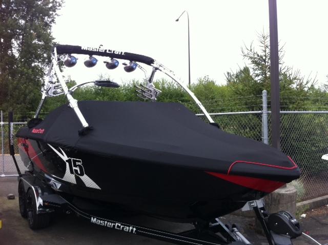 X15 Red Black Custom Piping
